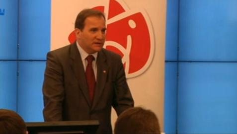 Stefan L&#246;fven p&#229; presskonferensen hos S